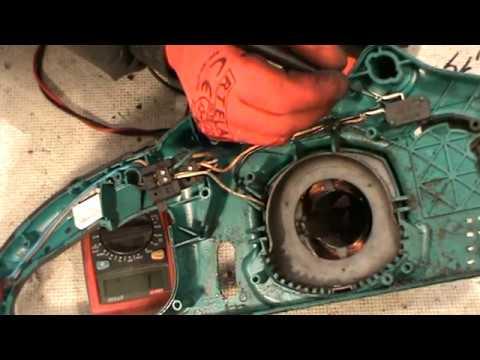 Макита UC4020A цепная пила ремонт электропилы замена якоря щёток и звёздочки