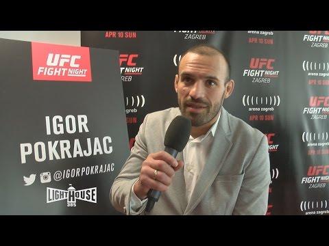 Igor Pokrajac UFC Zagreb media scrum