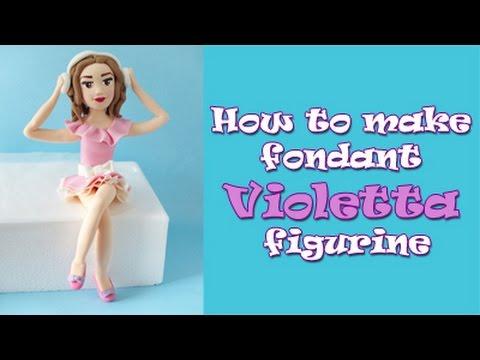 How to make fondant Violetta figurine tutorial / Jak zrobić figurkę Violetty z masy cukrowej