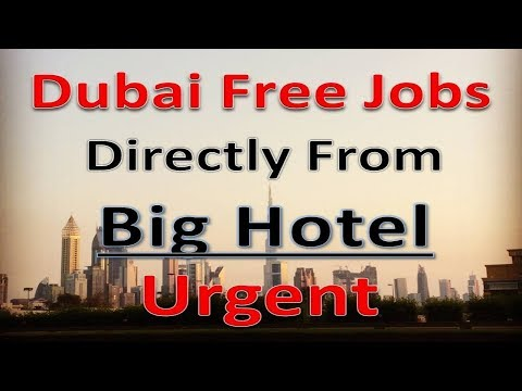 Dubai Hotel Jobs Apply Fast With Free Process Salary 5000AED | Hindi Urdu |