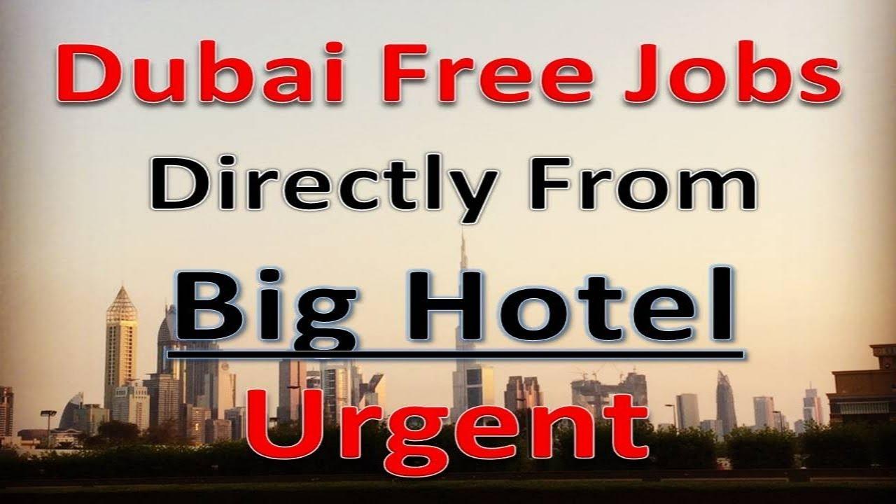 Dubai Hotel Jobs Apply Fast With Free Process Salary 5000aed Hindi