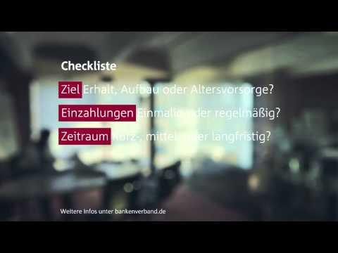 Checkliste zur Anlageberatung