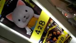 428ポスター@渋谷TSUTAYAの下りエスカレータ.