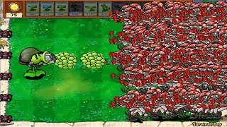 1 Gatling Pea vs 99999 Football Zombie Epic Hack PvZ