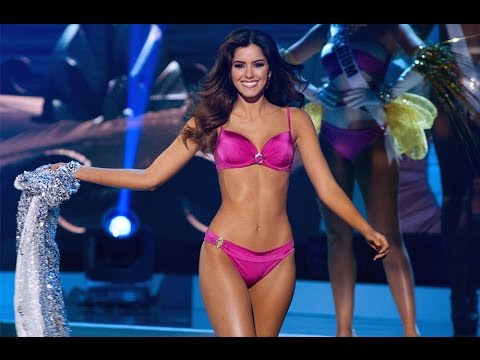 Miss Universe 2014 and 2015 BEST WALK IN SWIMSUIT! (HD)