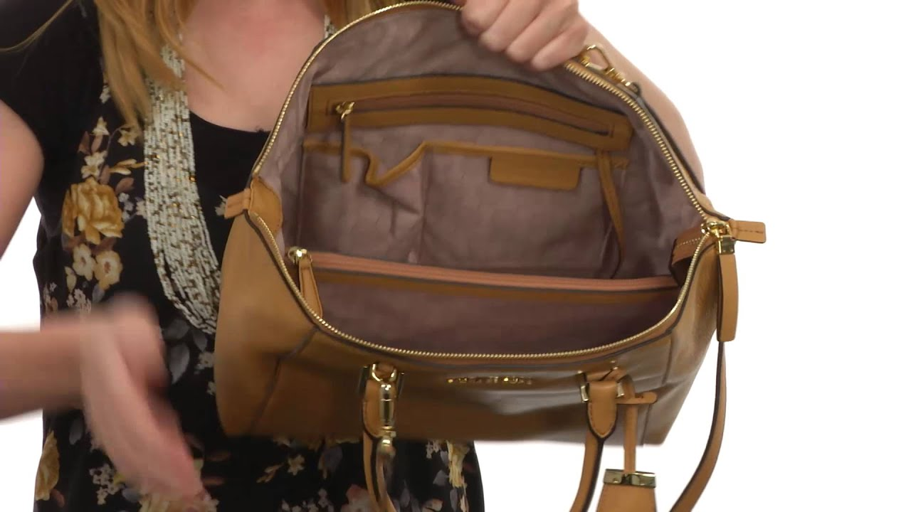 MICHAEL Michael Kors Riley Large Satchel SKU 8539877 - YouTube ae116c563e9