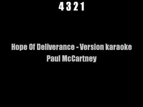 Hope of deliverance - Paul Mccartney Karaoke