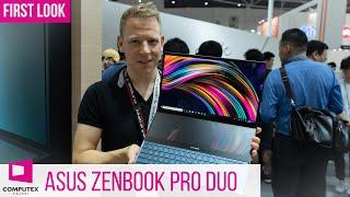 Asus ZenBook Pro Duo Notebook mit zwei 4K-Bildschirmen! #Computex2019