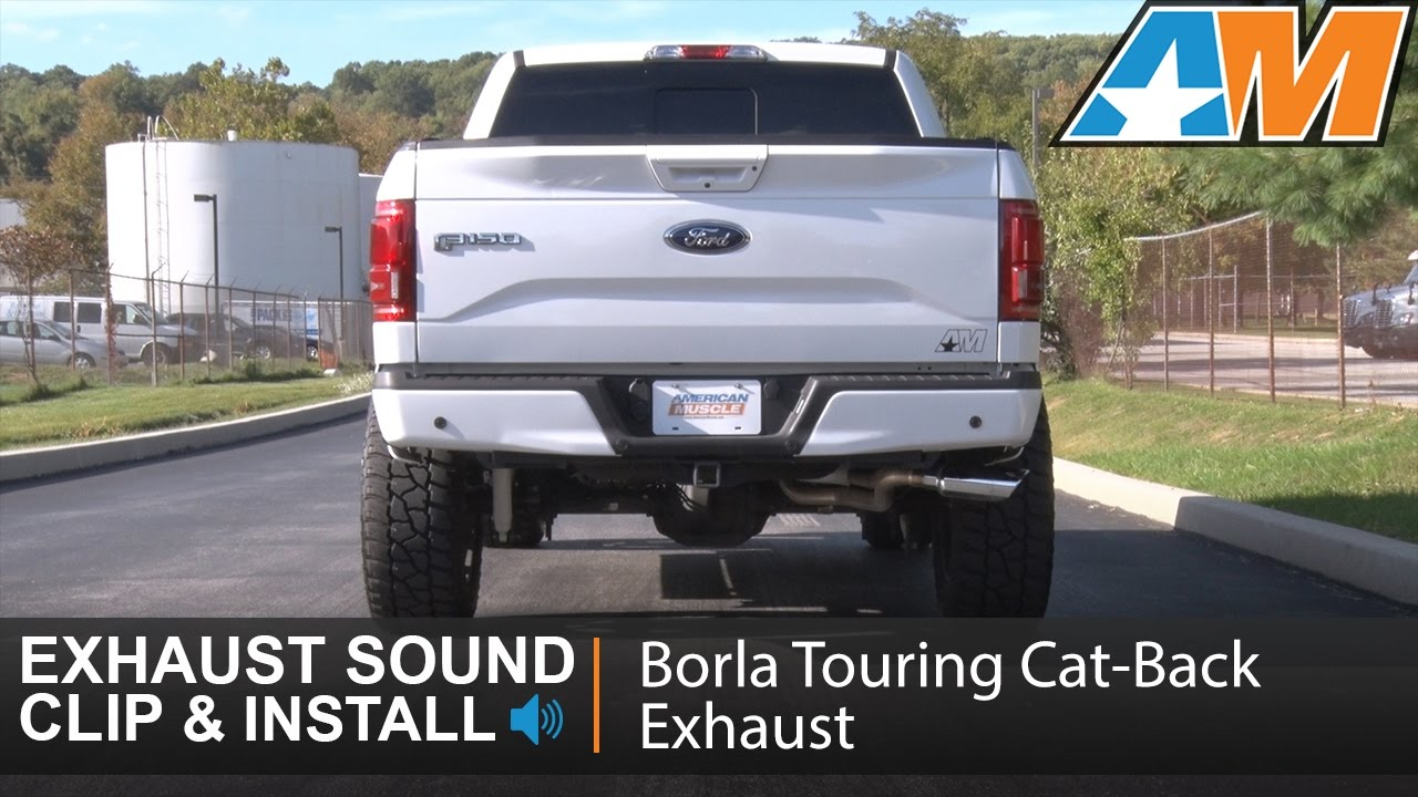 2015 2017 f 150 borla touring cat back exhaust dual side exit 2 7l ecoboost sound clip install youtube