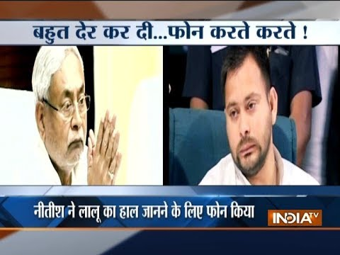 Nitish Kumar Calls Lalu Yadav To Inquire About His Health, Tejashwi Says No Alliance With JD(U)