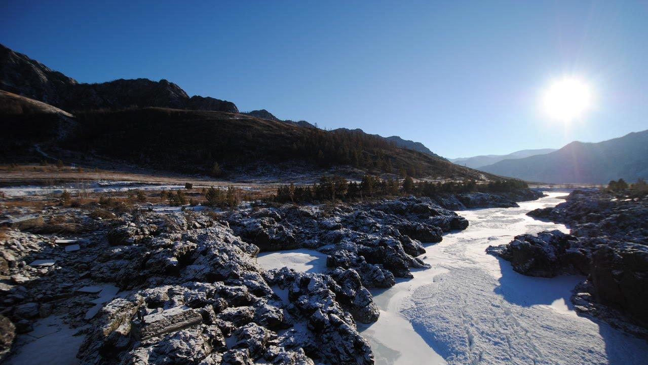 Новогодние каникулы на Алтае. Горные лыжи Манжерок. Озеро Светлое. Зима 2015. Altai Republic