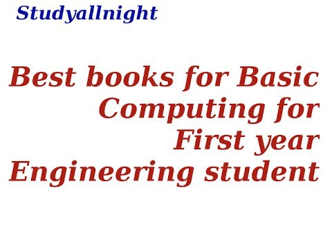 Best book for Basic computing for First year engineering Student