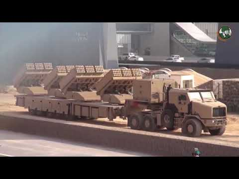 Live firing in United Arab Emirates with Jobaria 107mm 122mm MLRS rocket launcher system