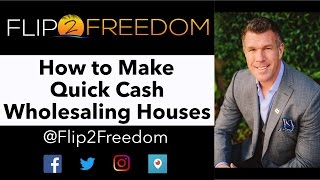 How to Make Quick Cash Wholesaling Houses