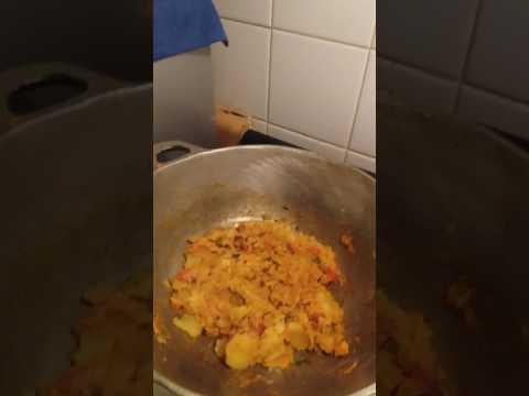 Guyanese girl cooking busup shot  in New York city