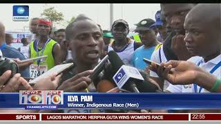 Kenyan, Ethiopian Runners Dominate 2018 Lagos City Marathon Pt.4 |News@10| 10/02/18