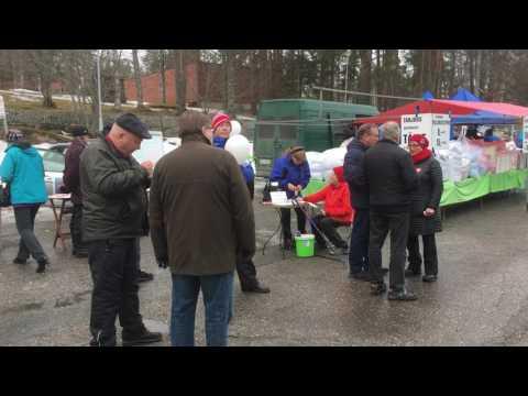 Vaalitoritunnelmaa Keuruulla 2017 kunnallisvaaleissa