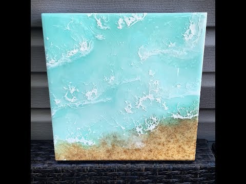 Tropical Resin Beach Art - clear water and sand!