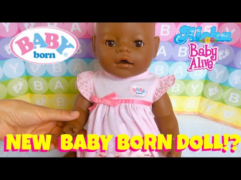 New Baby Born African American Doll with Magic Pacifier & Musical Potty! Unboxing & Feeding!