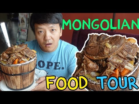 TRADITIONAL Mongolian Food Guide in Ulaanbaatar Mongolia