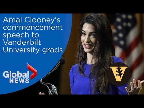 Amal Clooney delivers commencement speech to Vanderbilt grads
