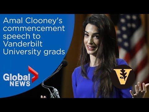 Amal Clooney delivers commencement speech to Vanderbilt grads