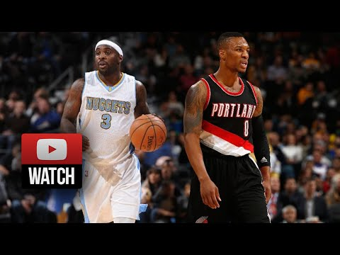 Damian Lillard vs Ty Lawson EPIC PG Duel Highlights Blazers at Nuggets  (2014.11.12) - SICK!