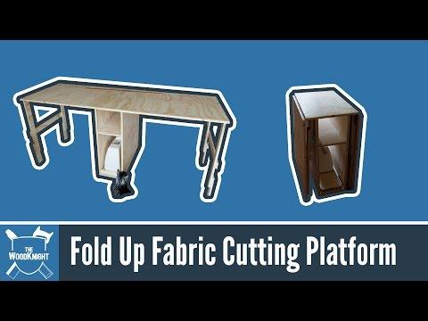 Fold Up Fabric Cutting Platform