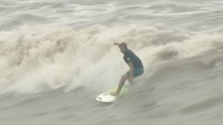 World Surfers Ride Waves on Qiantang River