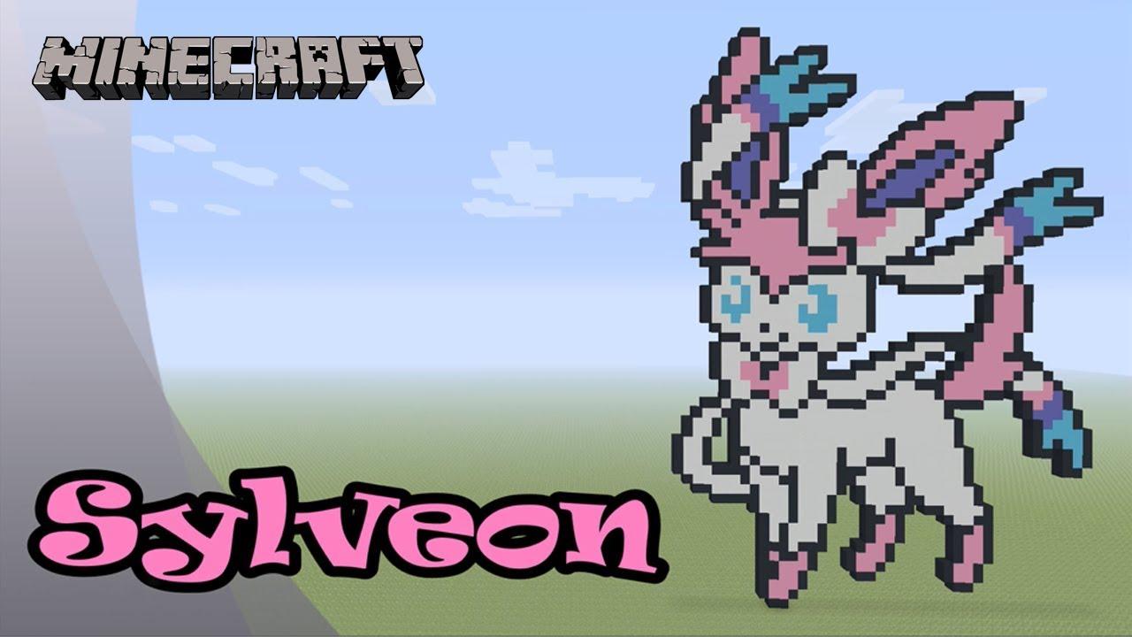 Minecraft Pixel Art Tutorial Sylveon Pokemon Youtube