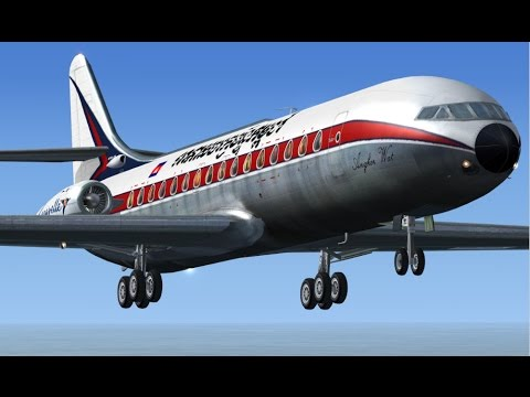 ROYAL AIR CAMBODGE(Phnom Penh-Siem Reap).[FSX & FS9] Sud Aviation Caravelle lll 1969 XU-JTA .