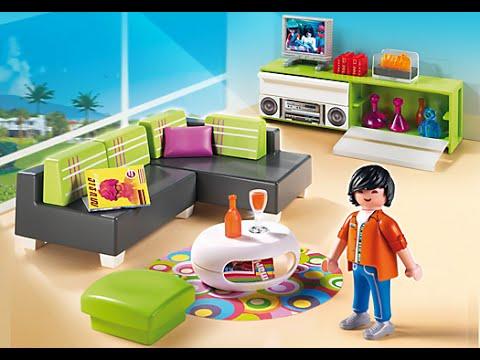 playmobil le salon moderne 5584 youtube