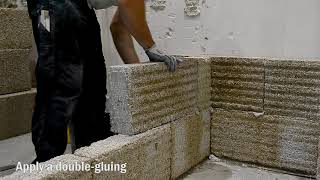 How to make a wall out of hemp blocks?