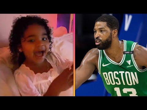 Khloe Kardashian's Daughter True's ADORABLE Reaction to Seeing Tristan Thompson During Celtics Game