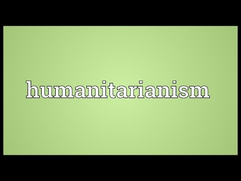 Header of humanitarianism