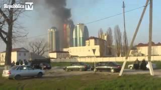 A fuoco grattacielo a Grozny in cui ha casa Depardieu