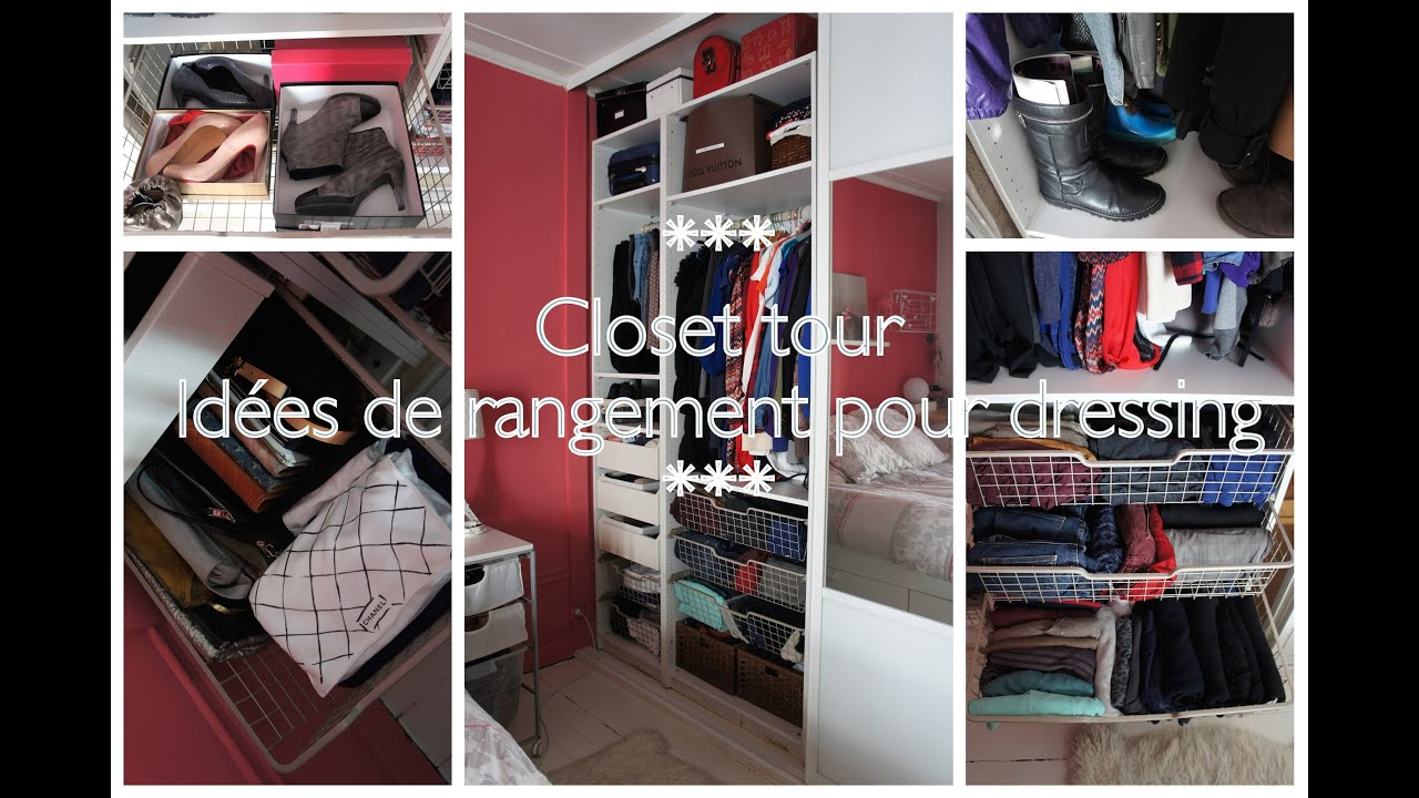 closet tour astuce rangement dressing youtube. Black Bedroom Furniture Sets. Home Design Ideas
