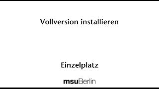 Vollversion er Software auf dem Mac installieren - ab Version 2017