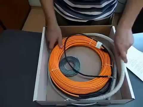 Электрический теплый пол на основе нагревательного кабеля Woks-17
