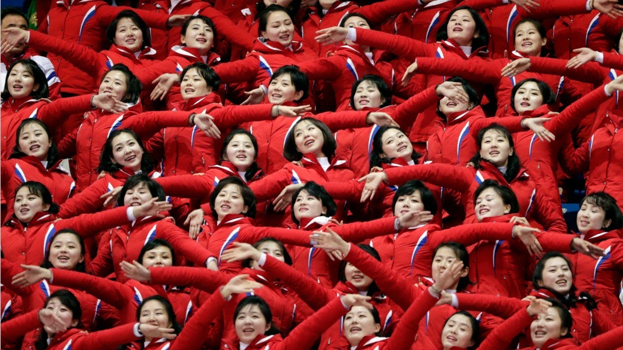 Image result for north korean cheerleaders