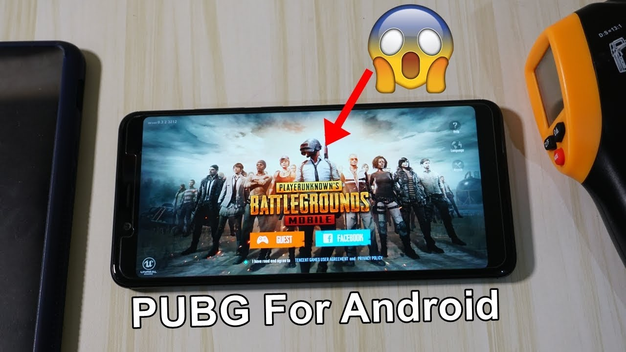 PUBG Game For Android On Redmi Note 5 Pro 🔥