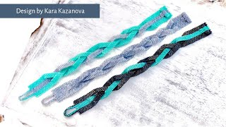Beaded Braid bracelet tutorial | Even Count Peyote