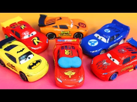 Thumbnail: Disney Pixar Cars Lighnting McQueen dreams helping Sally Batman Robin Spider-Man Toy story Imaginext