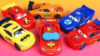 Repeat youtube video Disney Pixar Cars Lighnting McQueen dreams helping Sally Batman Robin Spider-Man Toy story Imaginext
