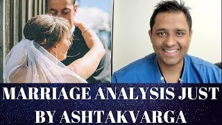 Marriage Analysis just by Ashtakvarga - Astrology Basics 130
