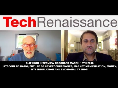 Clif HIGH Interview -  Litecoin 1/5 Ratio, Future of Cryptocurrencies, Market Manipulation
