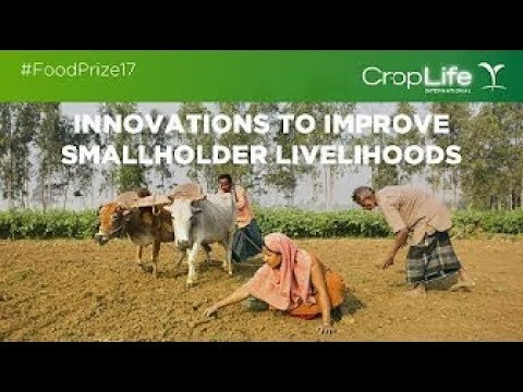 World Food Prize'17 Panel discussion on Innovations to Improve Smallholder Livelihoods with banner