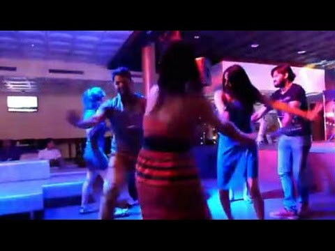 Dancing Bhangra at Deltin Casino in Goa, India