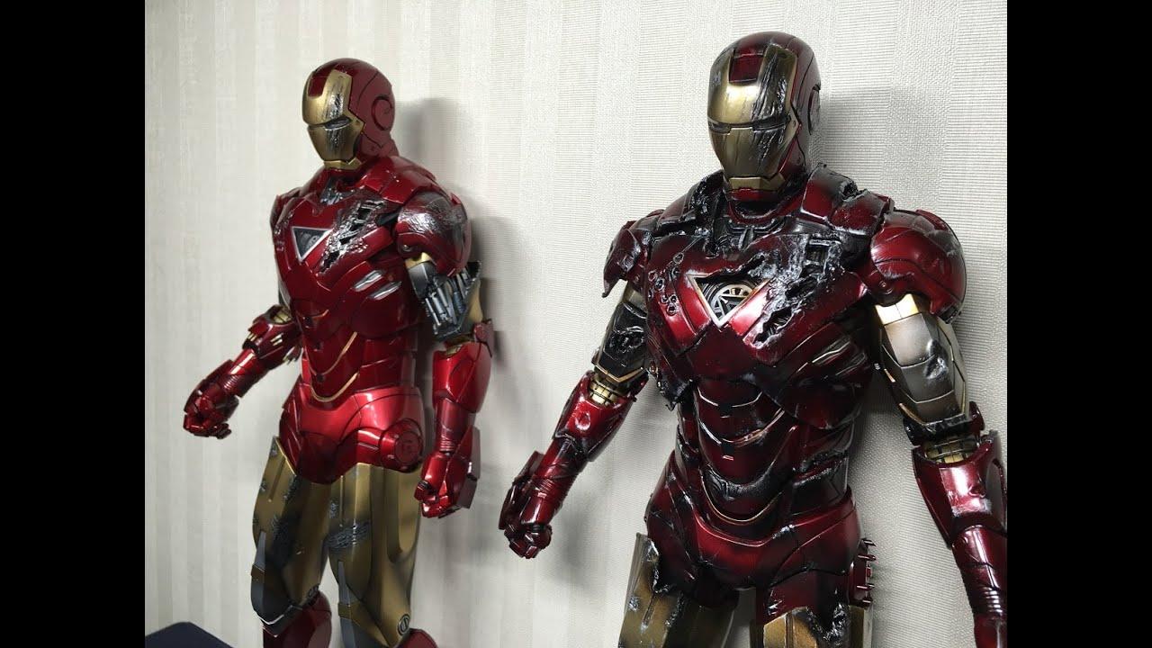 mark 6 hot toys iron man extreme battle damage version