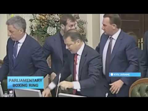 Ukraine's Verkhovna Rada seems to be a boxing arena for deputies